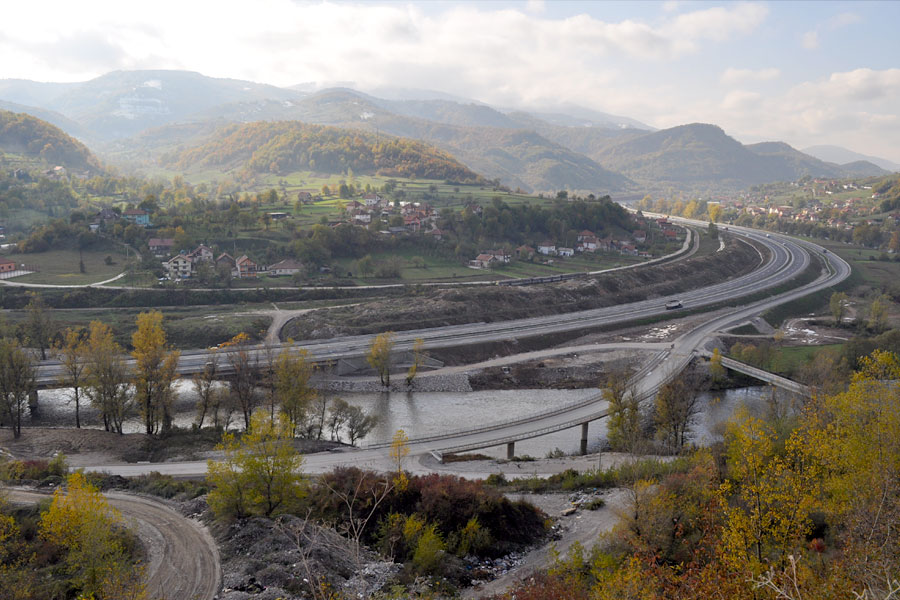 Izgradnja autoceste na koridoru Vc, Dionica Drivuša-Kakanj, poddionica Bilješevo Kakanj