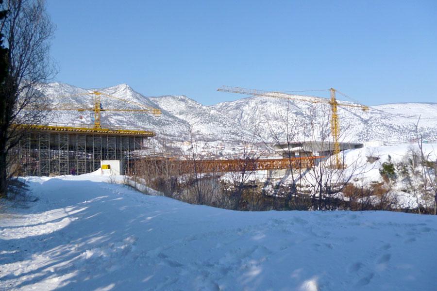 Izgradnja mosta u Sutini, preko rijeke Neretve na M17